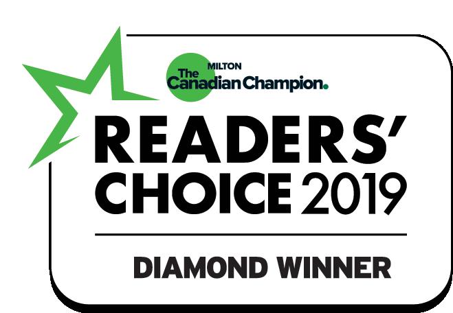 WE WON THE 2019 MILTON CHAMPION READERS' CHOICE AWARD!!